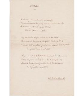 """BANVILLE Théodore de, poème """"L'Archer"""""""
