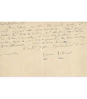 ROLLAND (Romain), écrivain et pacifiste. Carte autographe (G 4546)