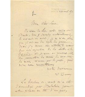 DURUY Victor à Jules SIMON, au sujet de sa notice sur Danton
