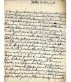 MONTMORENCY (Anne Charles Sigismond de, comte d'Olonne, duc de Châtillon). Lettre (1760) (Réf. G 1537)