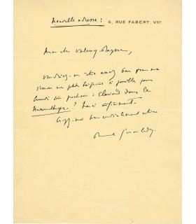 GERALDY Paul,  poète. Lettre autographe (E 10456)