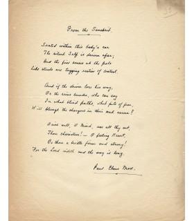 MORE Paul Elmer, journaliste, essayiste américain. Lettre autographe (E 10473)