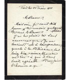 RENARD Casimir, compositeur. Lettre autographe (E 10315)