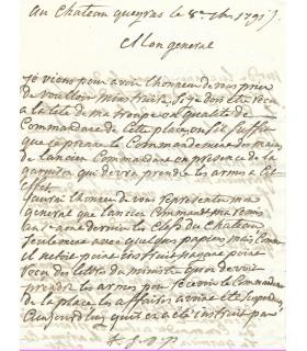 LA TOUR DU PIN GOUVERNET, homme politique. Lettre autographe (E 10312)