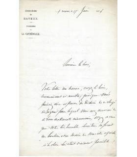 GERMAIN Abel, prélat. Lettre autographe (E 10092)