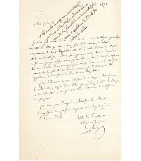 CHASLES Michel, mathématicien. Lettre autographe (E 10052)