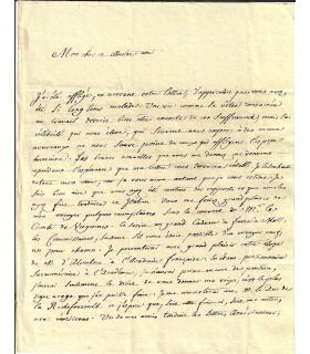 BAILLY (Jean Sylvain). Astronome. Lettre signée au mathématicien Paolo Frisi, 1784 (G 3734)