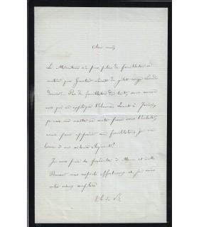 BANVILLE (Théodore de). Poète. Lettre autographe à Joséphin Péladan (G 385)