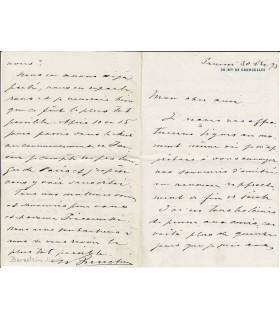 BERNSTEIN (Marcel). Homme d'affaires, père du dramaturge. Lettre autographe (Réf. E 10020)