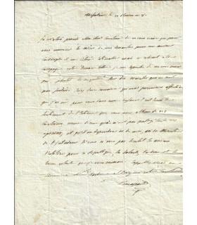 BONAPARTE (Joseph). Frère aîné de Napoléon 1er. Lettre autographe, 1800 (Réf. E 10482