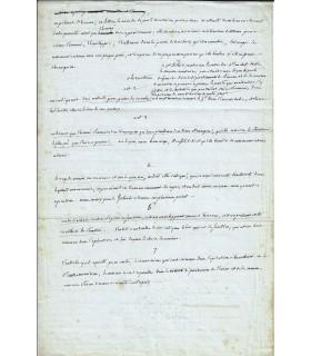 BOUCHOTTE (Jean-Baptiste). Militaire et homme politique. Manuscrit autographe (G 3680)