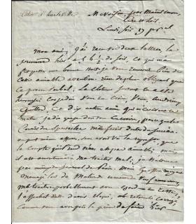 COLLIN D'HARLEVILLE (J.-Fr.). Auteur dramatique. Lettre autographe (Réf. G 1070)