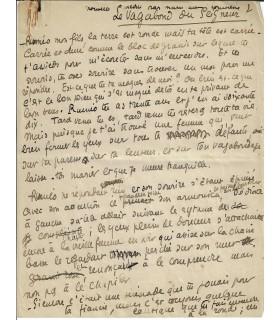 COMNENE (Marie-Anne). Romancière. Manuscrit autographe (E 10504)