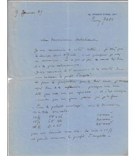 DOMERGUE (Jean-Gabriel). Peintre et graveur. Lettre autographe (Réf. G 5343)
