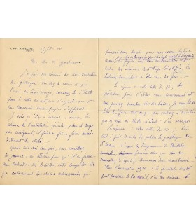 EIFFEL  (Gustave). Ingénieur, concepteur de la Tour eiffel. Lettre autographe, 1910 (Réf. G 3993)