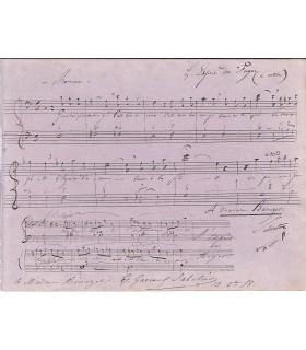 GAVEAUX-SABATIER (Emilie). Soprano. Partition musicale qui lui est dédicacée (E 10505)