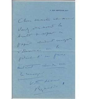 HAHN (Reynaldo). Compositeur. lettre autographe (G. 999)