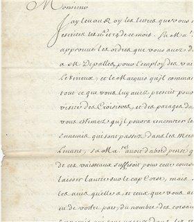 PONTCHARTRAIN. Contrôleur général des Finances. 1696