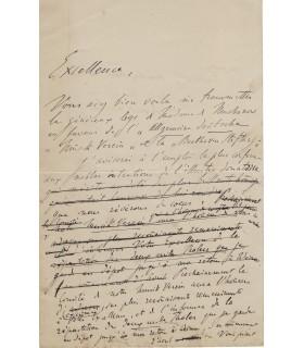 LISZT (Franz), compositeur et pianiste virtuose. Lettre autographe (G 3952)