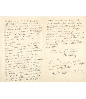 BERLIOZ Hector. Compositeur. Lettre à Mme Veuve SPONTINI (?), sans date (Réf. G 4799)