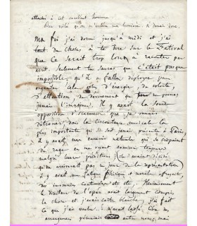 BERLIOZ  Hector. Compositeur. Lettre exceptionnelle à sa soeur, lors de son emprisonnement (1840) (Réf. G 4816)