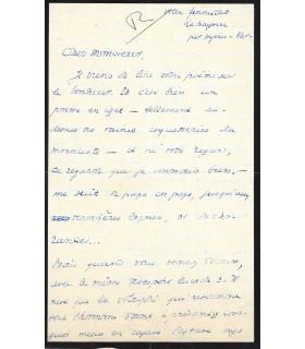 BERNANOS Georges, écrivain. Lettre autographe (E 10513)