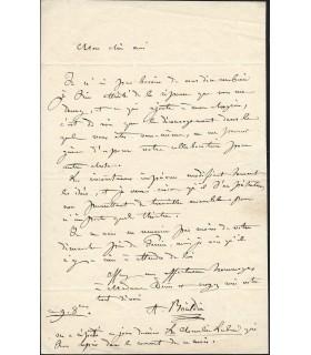 BOÏELDIEU Louis-Adrien, compositeur. Lettre autographe (G 5637)
