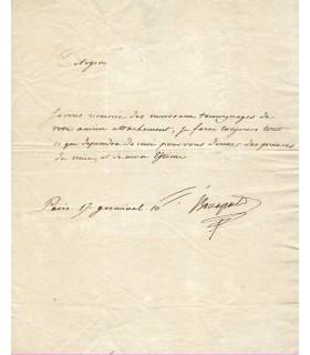 BONAPARTE Joseph, roi de Naples, roi d'Espagne. 2 lettres signées (E 10483)