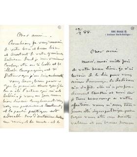 BOULANGER Gustave, peintre. Lettre autographe (E 10029)