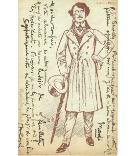 CAZALS Frédéric-Auguste. Peintre et écrivain. Carte postale autographe (G 5642)
