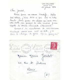 CHAGALL Marc, peintre et graveur. Carte signée (G 5030)