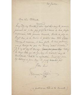 COPPEE François, poète. Lettre autographe (G 5647)