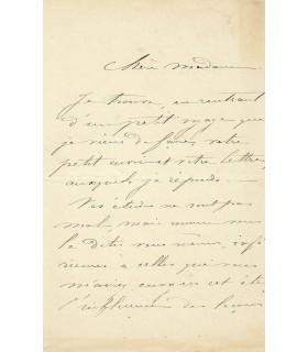 COROT Charlotte, aquarelliste. Lettre autographe (G 3215)