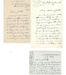 [GAUTIER Judith, femme de lettres] HEBERT Ernest, peintre. Correspondance (G 5648)