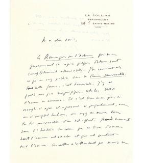 GERALDY Paul, écrivain. Lettre autographe (E 10522)