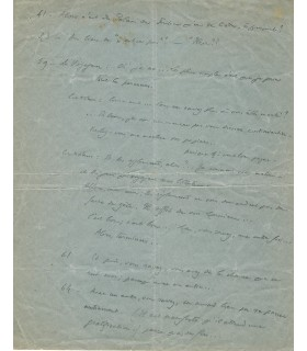 GIDE André, écrivain. Manuscrit autographe (G 4474)