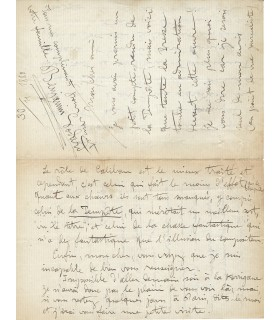 GODARD Benjamin, compositeur. Lettre autographe (G 3204)
