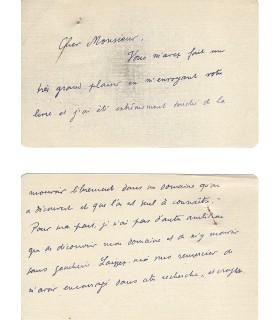 GREEN Julien, écrivain. Carte autographe (E 10524)