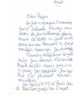 GROULT Benoîte, romancière, journaliste. Lettre autographe (G 4246)