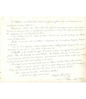 GUINOT Eugène, écrivain, dramaturge. Manuscrit autographe (E 10101)