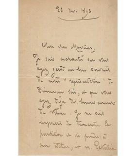 HOLMES Augusta, poétesse, musicienne. Lettre autographe (E 10502)