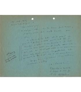 KOECHLIN Charles, compositeur. Lettre autographe (G 1453)