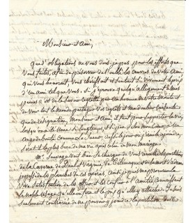 LESUEUR Adeline, épouse du compositeur. Lettre autographe (G 5638)