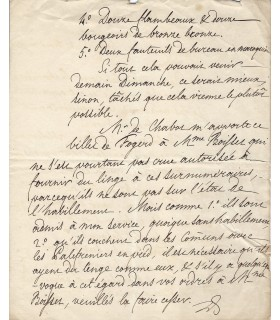 LOUIS-PHILIPPE D'ORLEANS, ROI DE FRANCE. Lettre autographe (G 4494)
