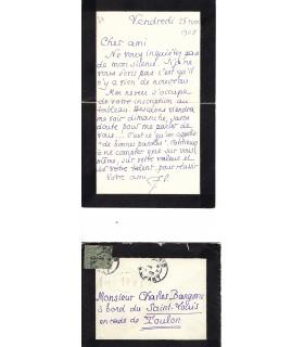 LOUŸS Pierre, écrivain. Lettre autographe (G 65)