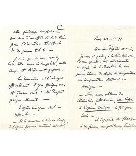 MASSENET Jules, compositeur. Lettre autographe (G 5455)