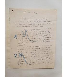 [Franc Maçonnerie] LEMAÎTRE Jules, écrivain et critique dramatique. Manuscrits autographes (G 5330)