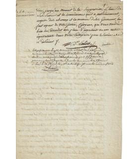 AUGER Antoine Augustin. Membre du Conseil des Cinq-Cents. P.S. (Réf. G 2205)