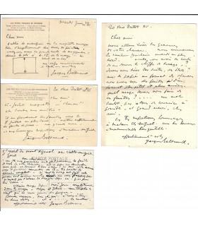 BELTRAND Jacques. Graveur et illustrateur. Lettres et cartes postales autographes au sujet d'un projet d'illustration