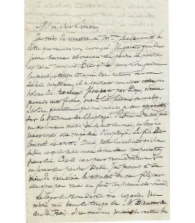 CORBON Claude Anthine. Homme politique. Lettre autographe à Jules Simon, 1864 (Réf. G 2718)